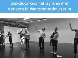 Syrène Saxofoonkwartet in watersnoodmuseum