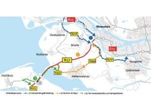 N57 Ted Jansenplein/N215 - Haringvlietsluizen afgesloten tot maandag