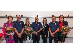 Koninklijke onderscheidingen brandweermannen Bram, Peter en Kees uit Dirksland