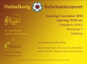 Rondom de Reformatie: dubbelkorig concert in Ouddorp