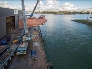 Franse vissersschepen worden in Stellendam gebouwd