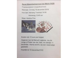Koppel Kerst Klaverjassen in 't Buurthuus Achthuizen