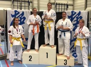 Budokai Senshi kleurt Goud tijdens Ned. Kampioenschap Kyokushinkai Karate