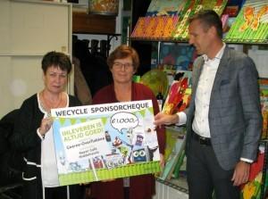 Repair Café ontvangt sponsorcheque Wecycle-actie van gemeente