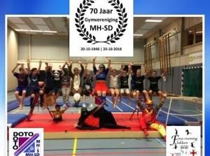 Gymvereniging Middelharnis-Sommelsdijk (MH-SD) 70 jaar jong