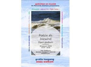 Veel interessante gastdichters bij Open Podium: Poëzie als Zeewind