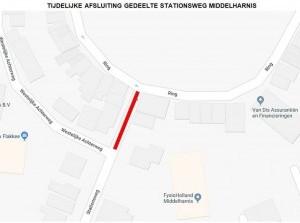 Werkzaamheden gedeelte Stationsweg Middelharnis