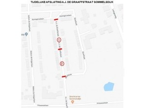 Werkzaamheden A.J. de Graaffstraat Sommelsdijk