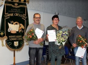 Drie jubilarissen Sempre-Crescendo gehuldigd
