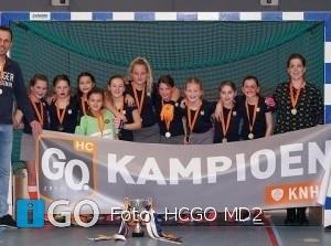 Hockeyclub HCGO MD2 zaalkampioen