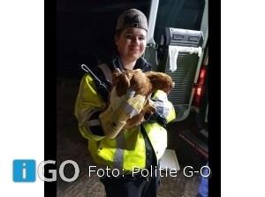 Politie Goeree-Overflakkee helpt met kippen vangen Battenoord