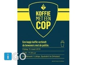 Koffie met een Cop in snuffelmarkt, Spuikolk Dirksland
