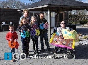 Prachtige donatie van Prins Johan Frisoschool voor belevingstuin