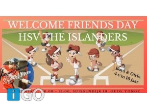 HSV The Islanders: Welcome Friends Day met Stijn vd Meer