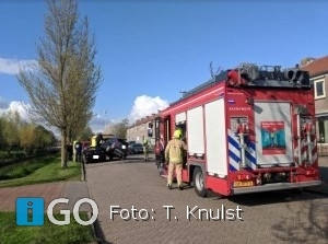 Auto's (letterlijk) op elkaar Groene Zoom Sommelsdijk